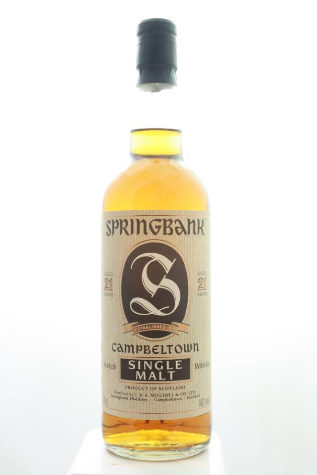 Springbank Single Malt Scotch Whisky 21-Year-Old NV