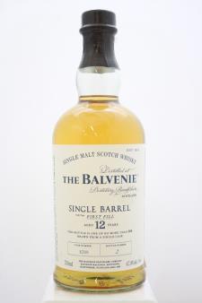 The Balvenie Single Malt Scotch Whisky Single Barrel First Fill Cask 12-Years-Old NV