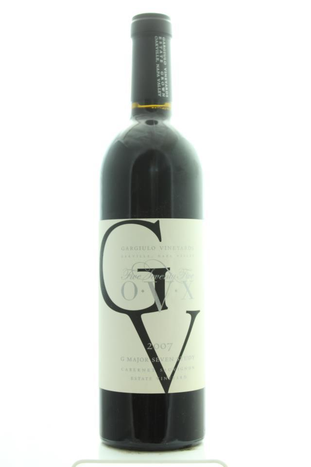 Gargiulo Vineyards Cabernet Sauvignon Estate 575 OVX G Major Seven Study 2007