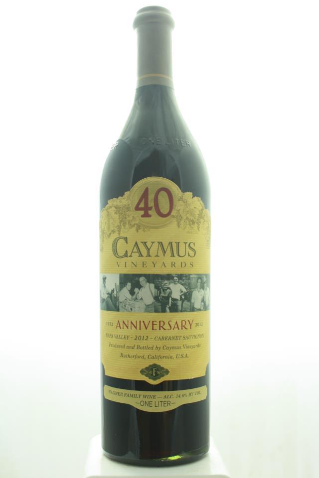 Caymus Cabernet Sauvignon 40th Anniversary 2012
