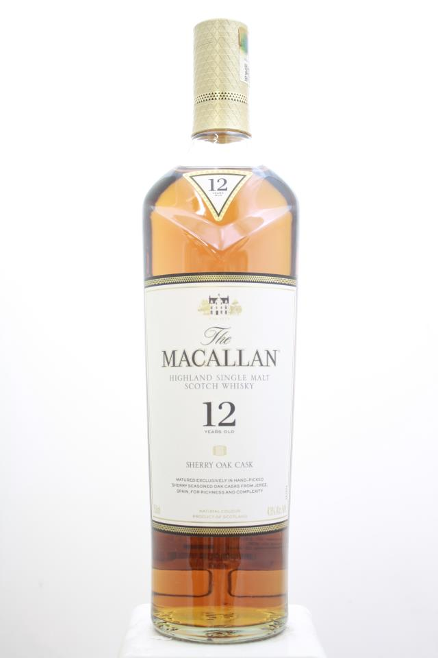 The Macallan Sherry Oak Cask Single Malt Scotch Whisky 12-Year-Old NV