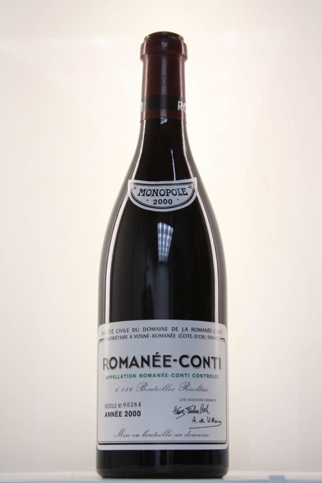 Domaine de la Romanée-Conti Assortment Case 2000