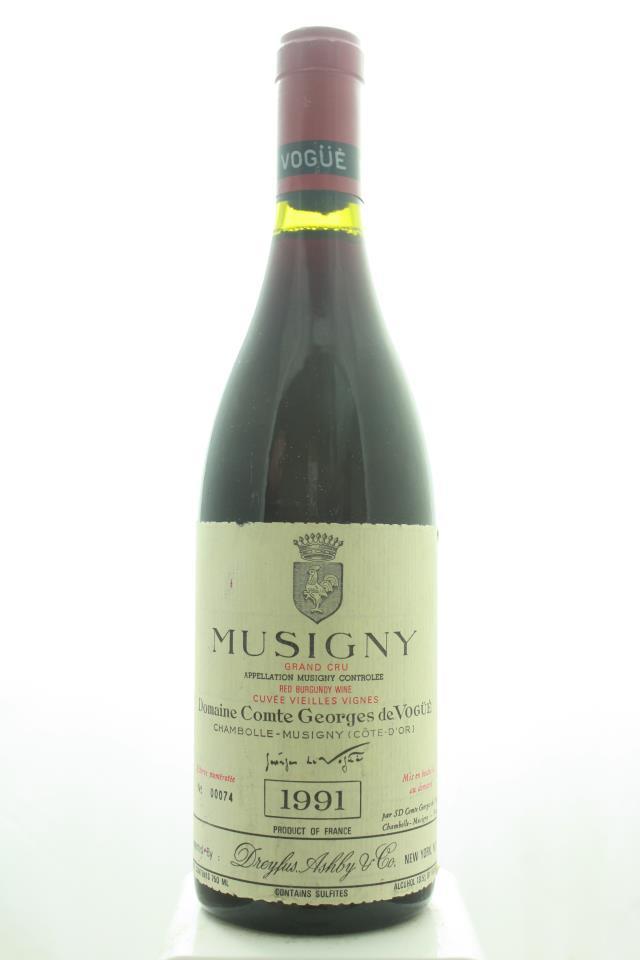 Comte Geroges de Vogüé Musigny Cuvée Vieilles Vignes 1991