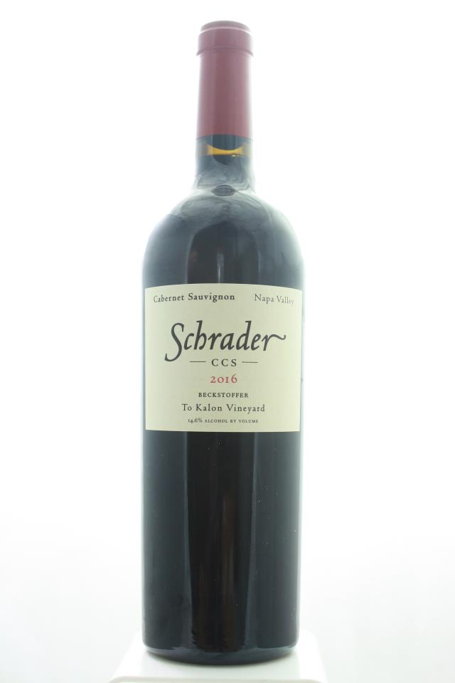 Schrader Cabernet Sauvignon Beckstoffer To Kalon Vineyard CCS 2016