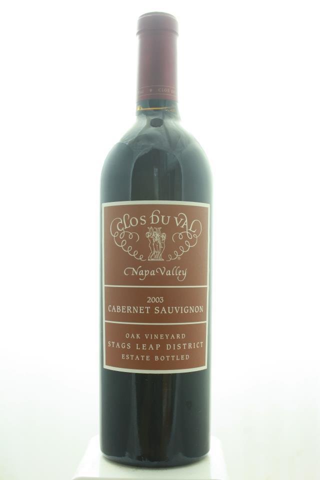 Clos du Val Cabernet Sauvignon Estate Oak Vineyard 2003