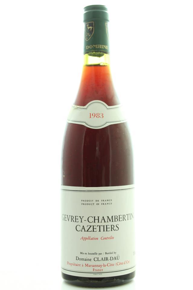 Domaine Clair-Daü Gevrey-Chambertin Les Cazetiers 1983