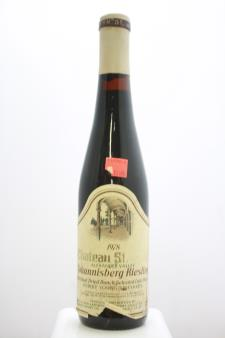 Chateau St. Jean Johannisberg Riesling Belle Terre Vineyards Individual Dried Bunch Selected Late Harvest 1978