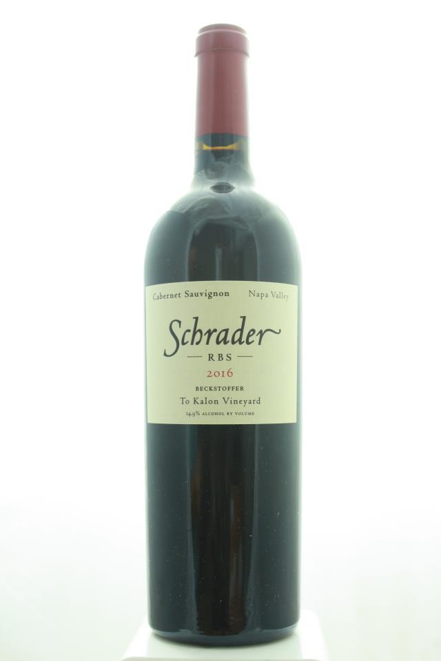 Schrader Cabernet Sauvignon Beckstoffer To Kalon Vineyard RBS 2016