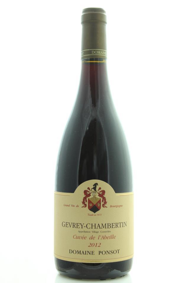 Domaine Ponsot Gevrey-Chambertin Cuvée de L'Abeille 2012