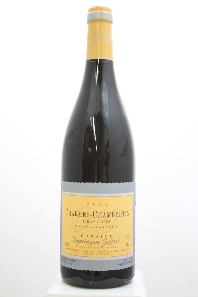 Dominique Gallois Charmes-Chambertin 2002