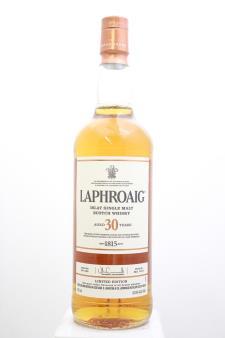 Laphroaig Islay Single Malt Scotch Whisky Limited Edition 30-Year-Old 2016
