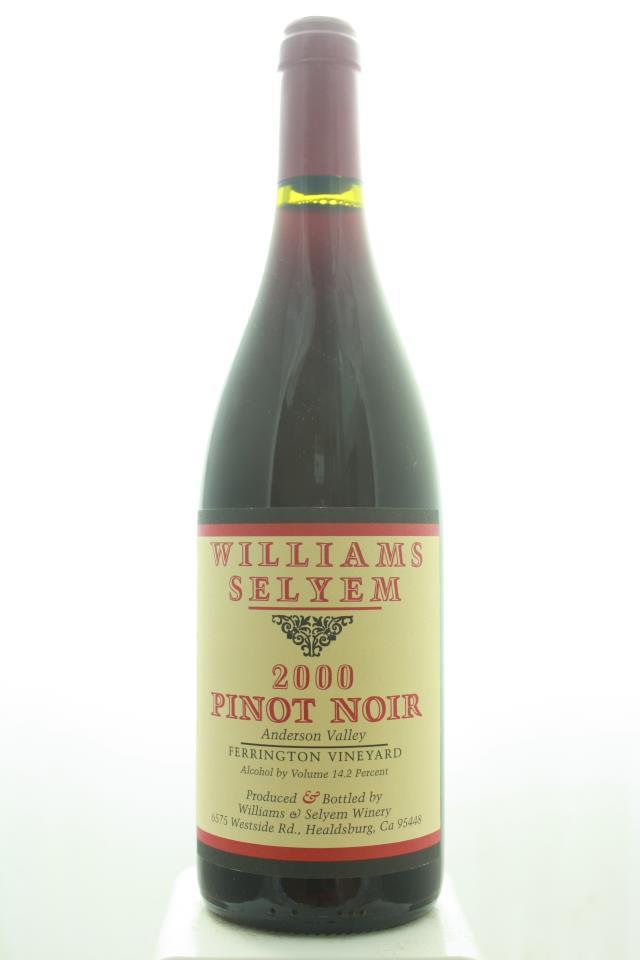 Williams Selyem Pinot Noir Ferrington Vineyard 2000