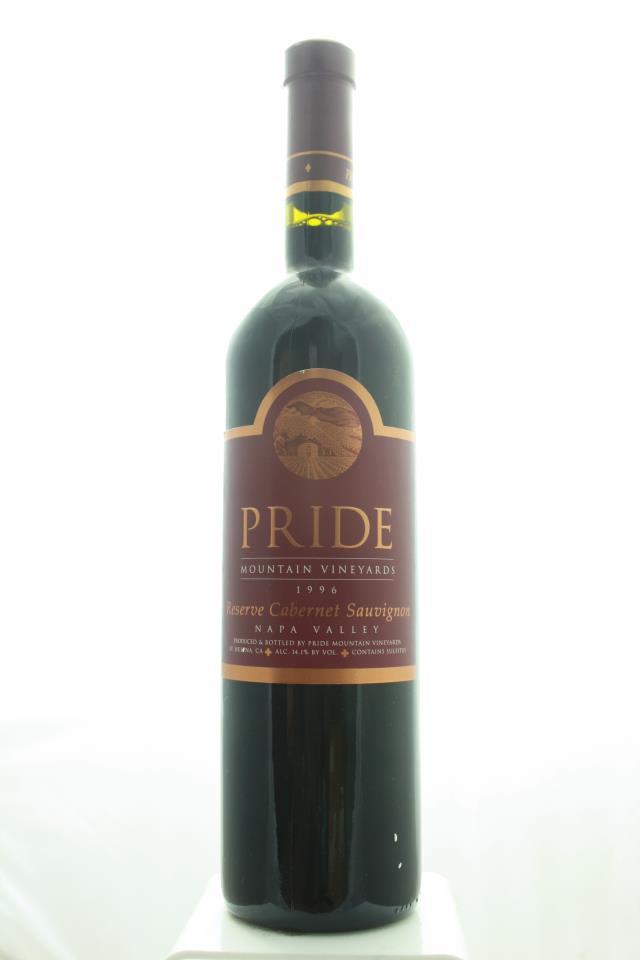 Pride Mountain Vineyards Cabernet Sauvignon Reserve 1996
