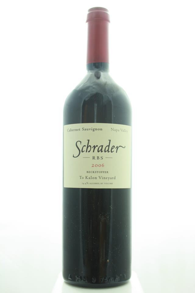 Schrader Cabernet Sauvignon Beckstoffer To Kalon Vineyard RBS 2006