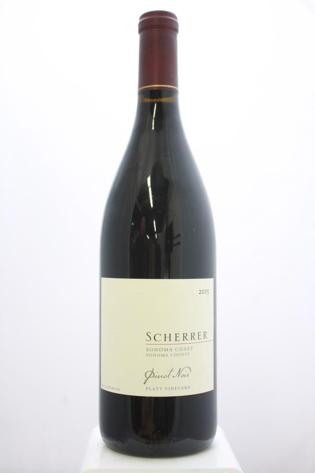Scherrer Pinot Noir Platt Vineyard 2015