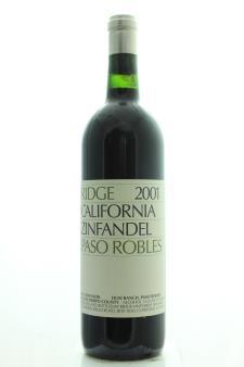 Ridge Vineyards Zinfandel Paso Robles 2001
