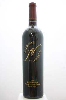 Andesite Vineyard Proprietary Red Mervignon 2007