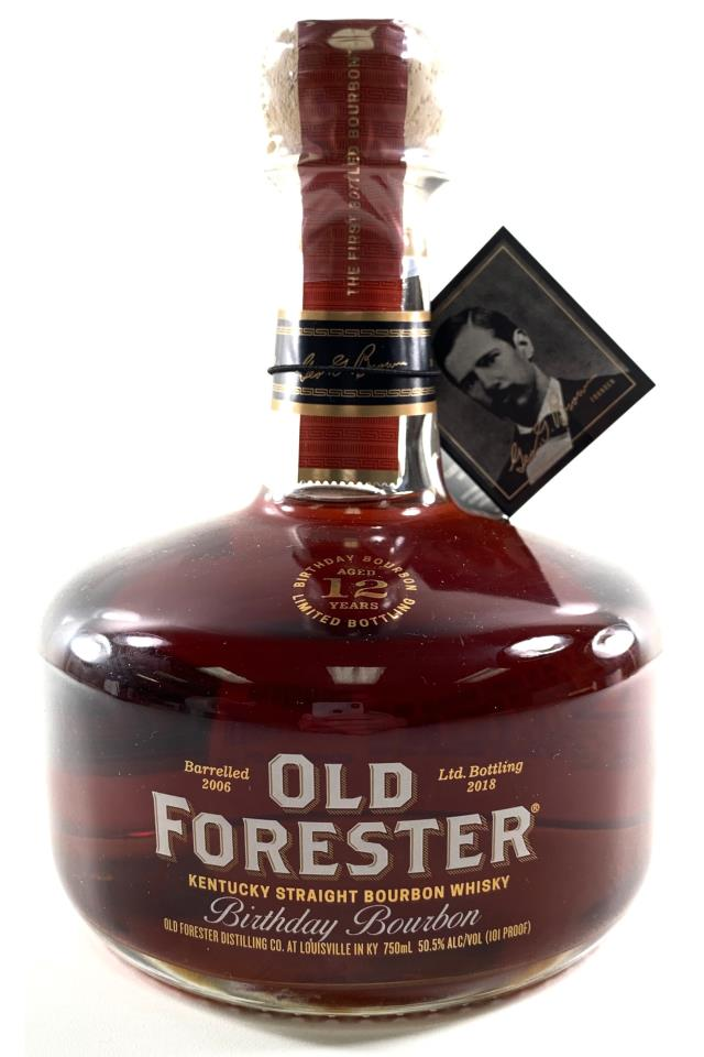 Old Forester Kentucky Straight Bourbon Whisky 12-Year-Old Birthday Bourbon Limited Bottling 2018