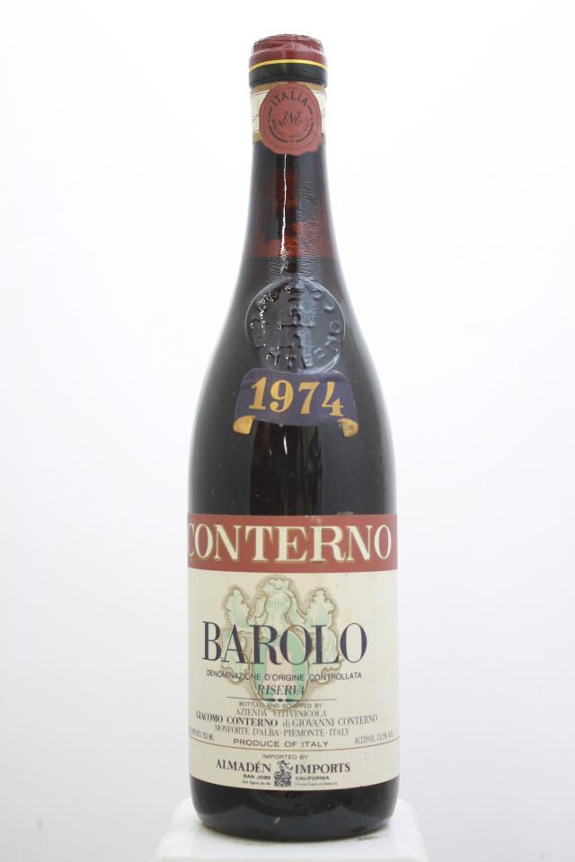 Giacomo Conterno Barolo Riserva 1974
