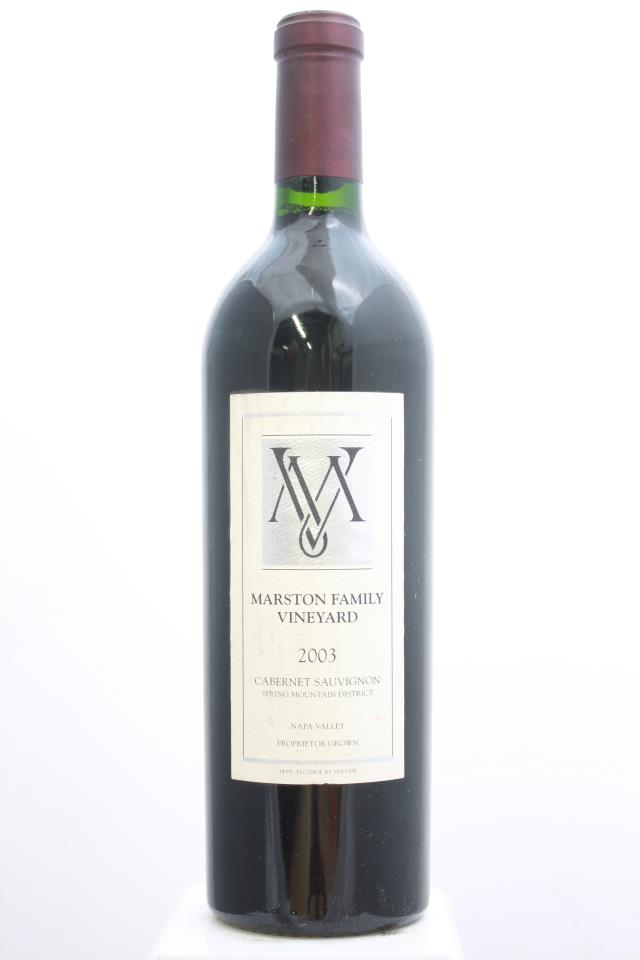 Marston Family Vineyard Cabernet Sauvignon Estate 2003
