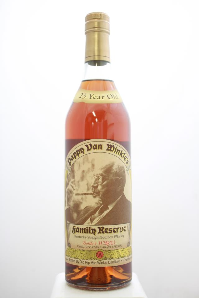 Old Rip Van Winkle Pappy Van Winkle's Kentucky Straight Bourbon Whiskey Family Reserve Limited Edition 23-Year-Old NV