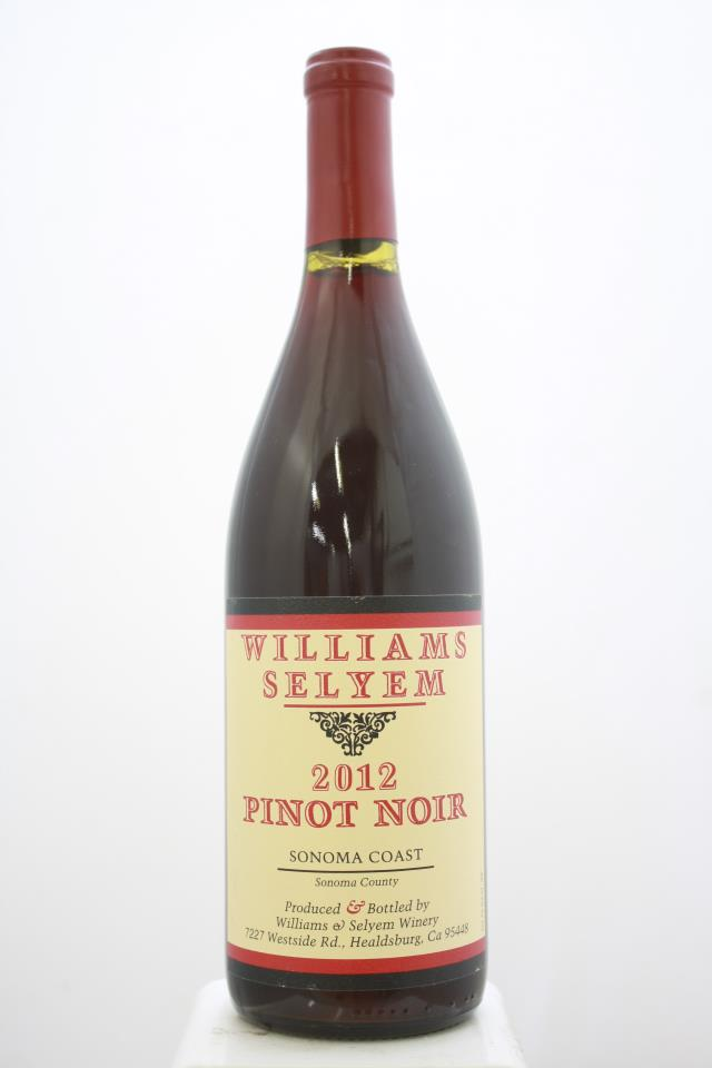 Williams Selyem Pinot Noir Sonoma Coast 2012
