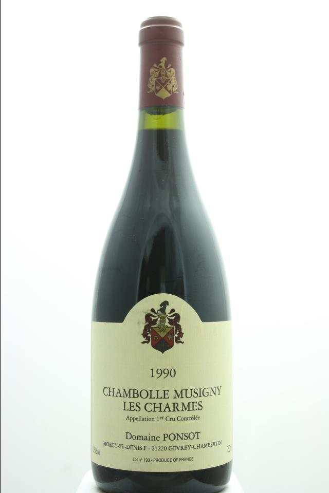 Domaine Ponsot Chambolle-Musigny Les Charmes 1990