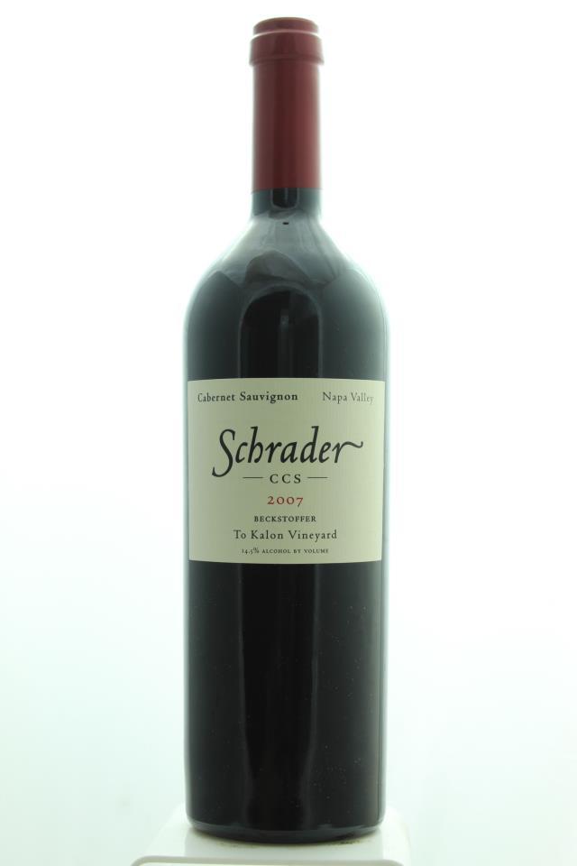 Schrader Cabernet Sauvignon Beckstoffer To Kalon Vineyard CCS 2007