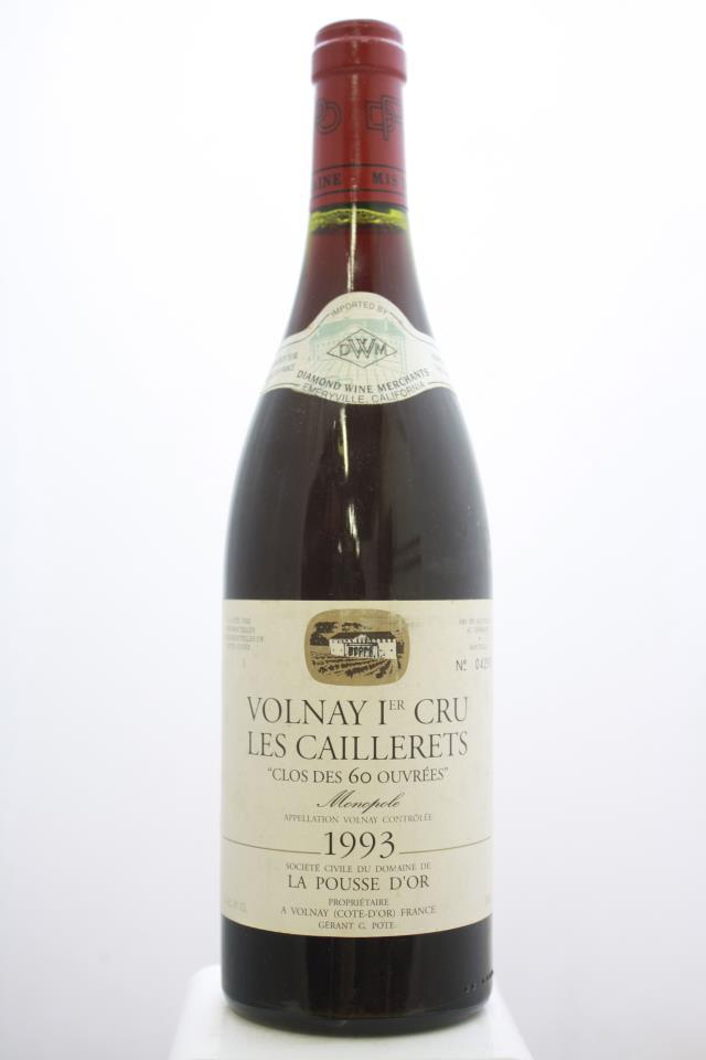 Domaine de la Pousse d'Or Volnay Les Caillerets Clos des 60 Ouvrées 1993