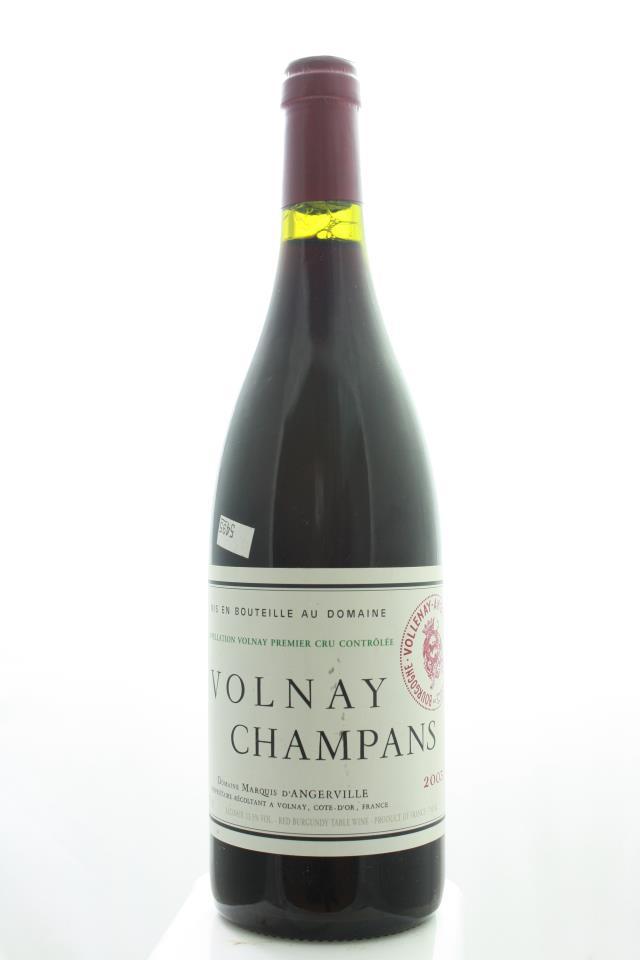 Marquis d`Angerville Volnay Les Champans 2003