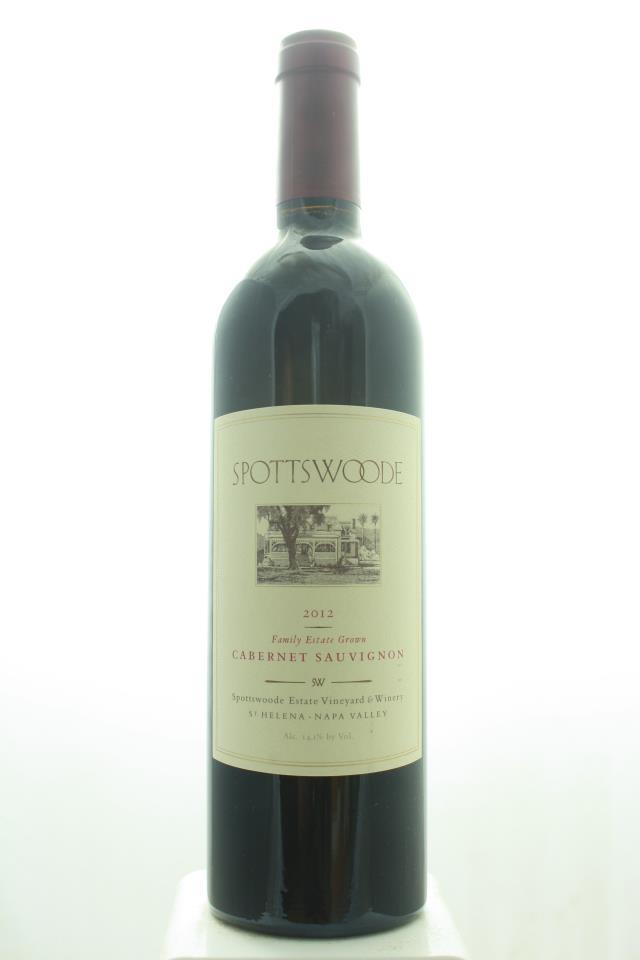 Spottswoode Cabernet Sauvignon Spottswoode Estate Vineyard 2012