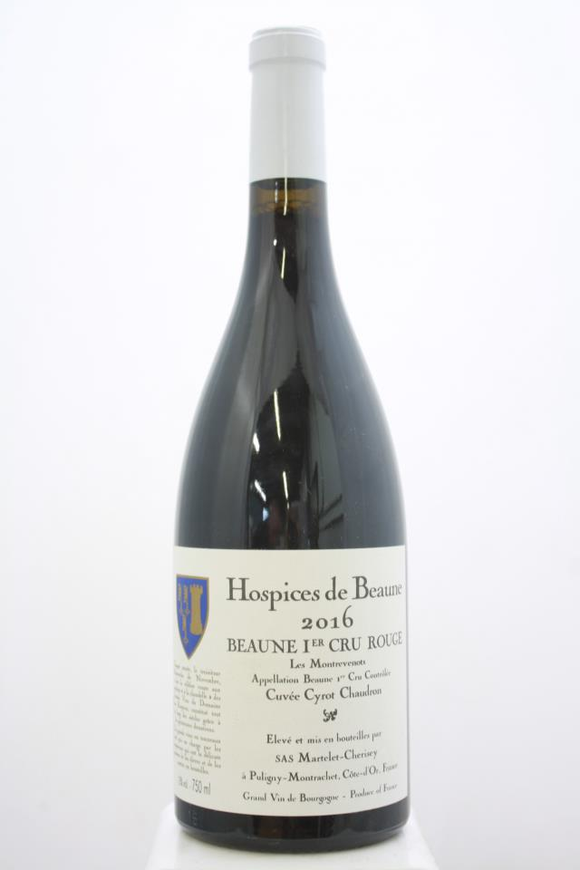 Martelet-Cherisey Beaune Les Montrevenots Hospices de Beaune Cuvée Cyrot Chaudron 2016