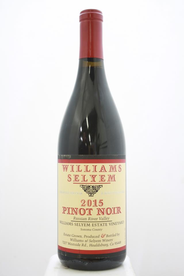 Williams Selyem Pinot Noir Williams Selyem Estate Vineyard 2015