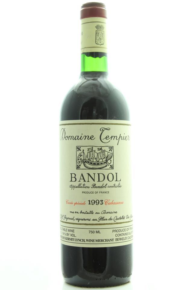 Domaine Tempier Bandol Cuvée Spéciale Cabassaou 1993
