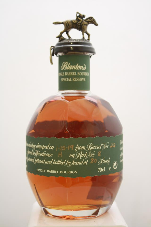 Blanton's Original Single Barrel Bourbon Whiskey Special Reserve NV