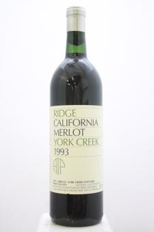 Ridge Vineyards Merlot York Creek ATP 1993