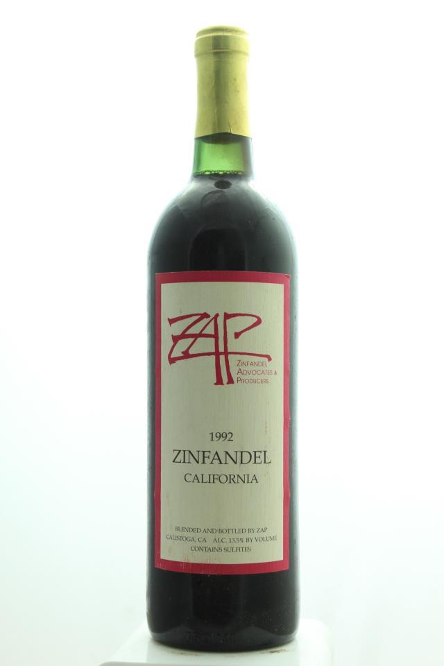 ZAP Zinfandel 1992