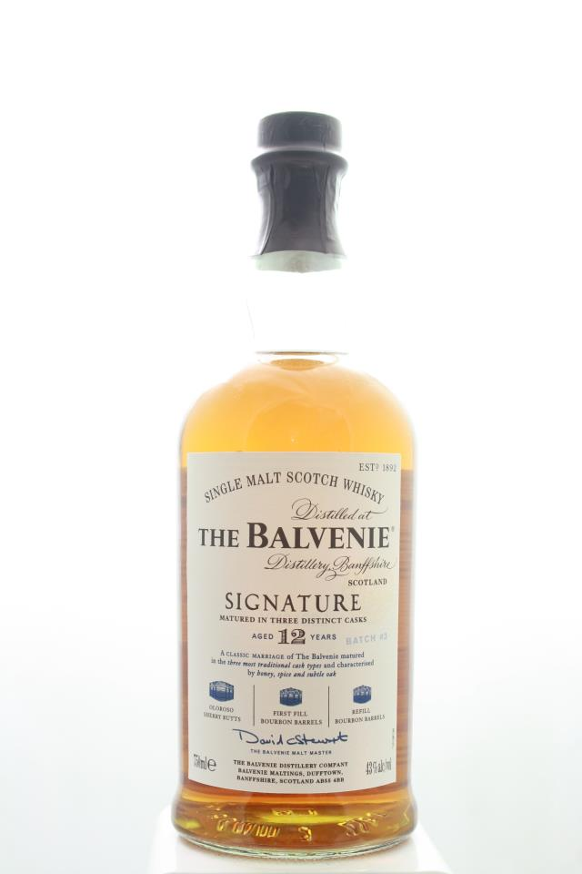 The Balvenie Single Malt Scotch Whisky Signature Matured in Three Distinct Caks Batch #3 12-Years-Old NV