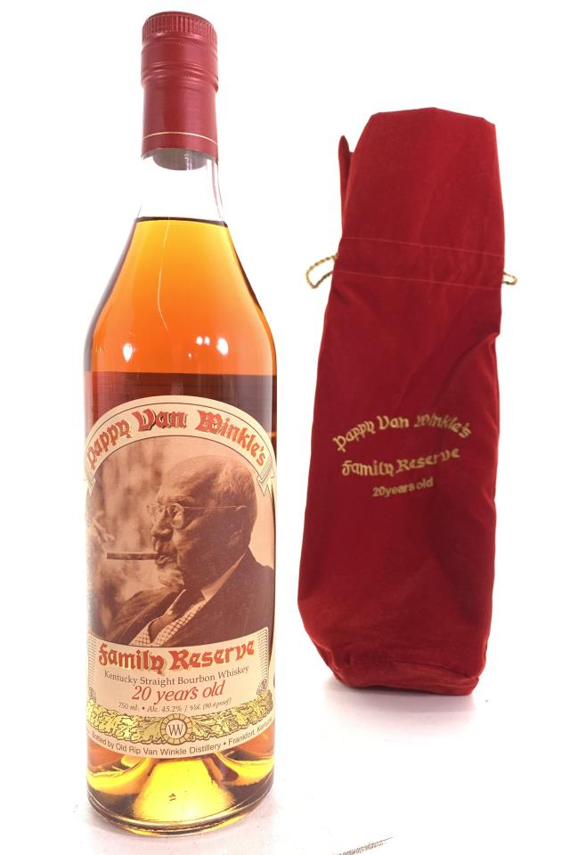 Old Rip Van Winkle Pappy Van Winkle's Kentucky Straight Bourbon Whiskey Family Reserve Limited Edition 20-Year-Old NV