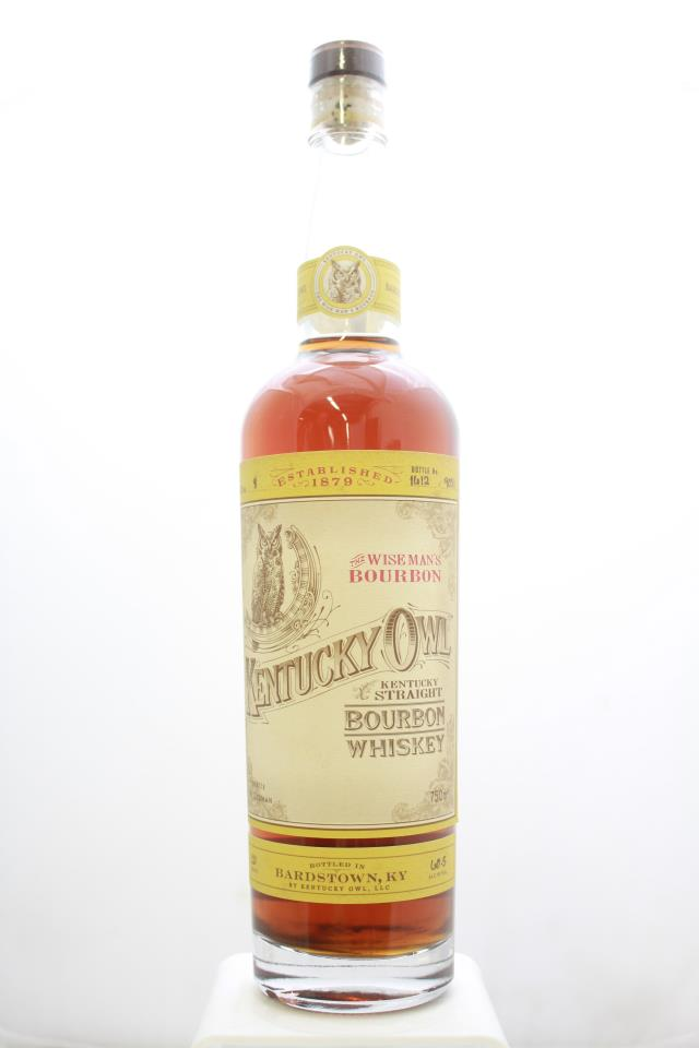 Kentucky Owl Kentucky Straight Bourbon Whiskey The Wise Man's Bourbon Batch #8 NV