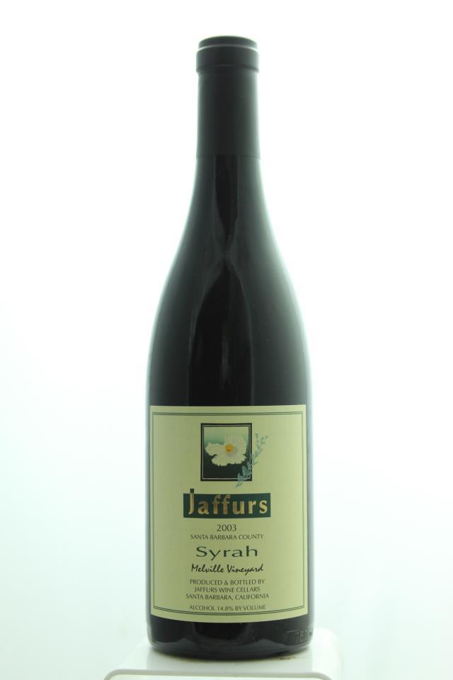 Jaffurs Syrah Melville Vineyard 2003