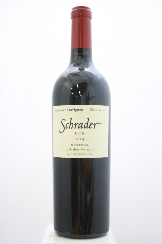 Schrader Cabernet Sauvignon Beckstoffer To Kalon Vineyard CCS 2014