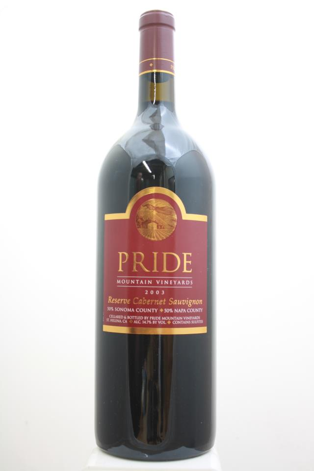 Pride Mountain Vineyards Cabernet Sauvignon Reserve 2003