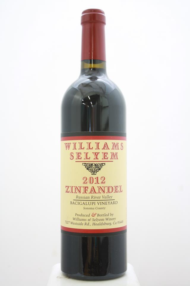 Williams Selyem Zinfandel Bacigalupi Vineyard 2012
