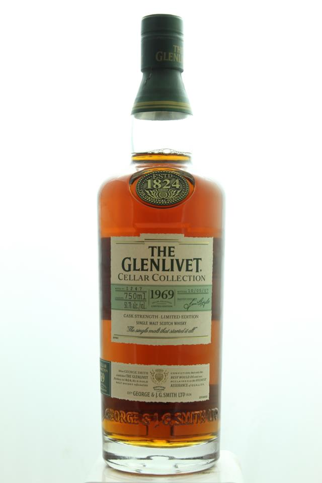 The Glenlivet Cellar Collection Single Malt Scotch Whisky Cask Strength Limited Edition 1969