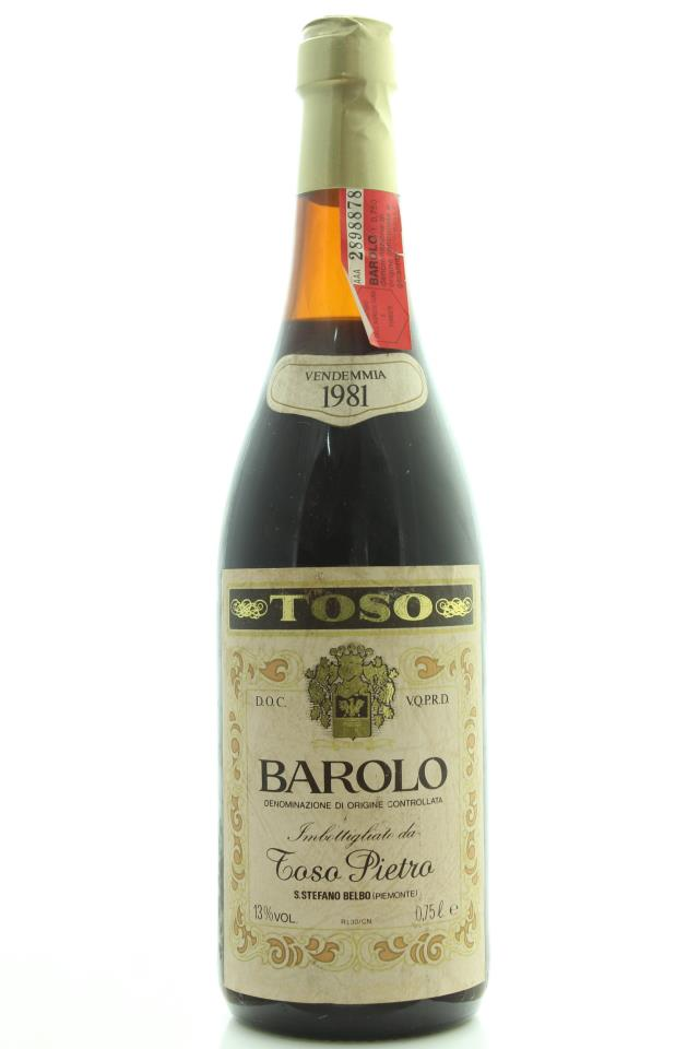 Pietro Toso Barolo 1981