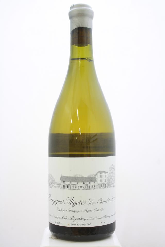Domaine d'Auvenay Bourgogne Aligoté Sous Chatelet 2000