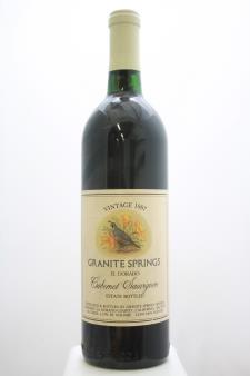 Granite Springs Cabernet Sauvignon 1987