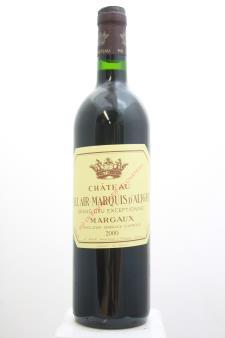 Bel Air Marquis d`Aligre Margaux 2000