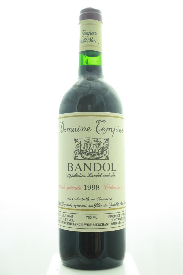 Domaine Tempier Bandol Cuvée Speciale Cabassaou 1998